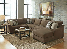 NEW Modern Design Living Room Sectional Sofa Chaise Set in Brown Microfiber IG20