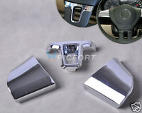 Hot Silver Chrome Steering Wheel Trim Cover Decor Fit for VW Lavida 2011 2012