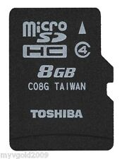 Toshiba 8GB MicroSDHC Card Class 4, TF Card 8GB for Smart Phones/MID