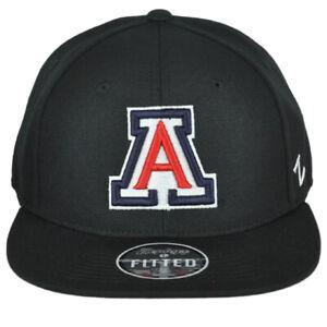 NCAA Zephyr Arizona Wildcats Navy Adult Flat Bill Fitted Size 7 1/2 Hat Cap