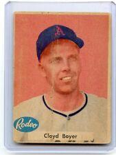 "1955 RODEO MEATS (NO #) CLOYD BOYER ""ODDBALL"" CARD KANSAS CITY ATHLETICS, 080617"