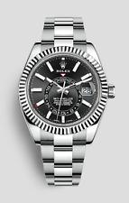 Rolex Sky-Dweller Auto 42mm Steel White Gold Mens Bracelet Watch Date GMT 326934