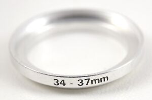 34mm-37mm Metal Step-up Lens Filter Ring Adapter (34 to 37mm)