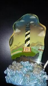 Light House Table Top - Night Light - Resin - Lamp Lighthouse