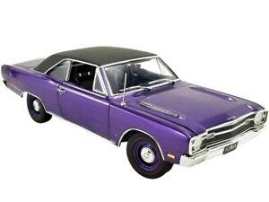 ACME 1:18 PLUM CRAZY 1969 Dodge Dart GTS 440 & Black Top Model Purple A1806406VT