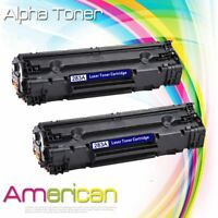 2x Black CF283A Ink Toner Cartridge for HP 83A LaserJet Pro M125nw M127fn M127fw