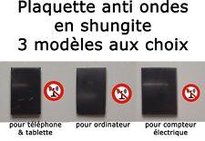 PLAQUE SHUNGITE AUTOCOLLANTE ANTI ONDES TÉLÉPHONE ORDINATEUR COMPTEUR ELECTRIQUE