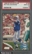 1998 Topps Stadium Club #195 Peyton Manning Colts RC Rookie PSA 10 GEM MINT