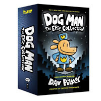 Dog Man (1-3) Epic Collection 3 Books Set By Dav Pilkey Hard cover NEW Pack