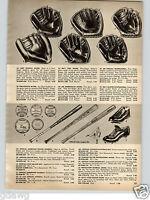1956 PAPER AD Billy Matin Jim Piersall Phil Rizzuto Chet Nichols Baseball Glove