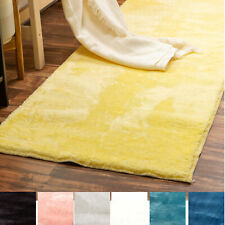Incredibly Soft Faux Rabbit Fur Non-Slip Runner Rug 2x6 For Hallway Decor