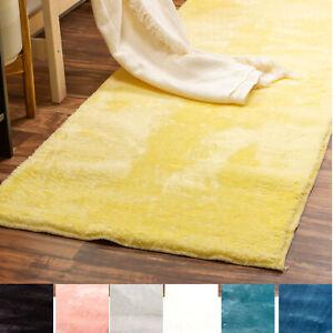 Incredibly Soft Faux Rabbit Fur Non-Slip Runner Rug 2x6 For Hallway Decor