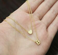 Double initial necklace,personalized jewelry,letter necklace,monogram jewelry