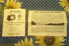 Original 1950s Alliance Mfg Co Tenna-Rotor Modeln U-100 Install Instructions
