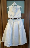 Marie Amelie Holy Communion, Bridesmaid Top and Skirt Set + Bag Age 10