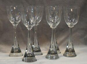 Set of 6 - Mid Century Modern FLIGHT Water Goblets by IRICE Czechoslovakia Glass