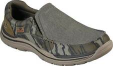 NEW Mens SKECHERS Relaxed Expected Avillo Camouflage WOVEN CANVAS Slip On Shoes