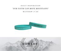 Christian Wristbands - OUR FAITH CAN MOVE MOUNTAINS – Matthew 17:20