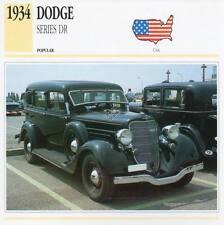 1934 DODGE Series DR Classic Car Photograph / Information Maxi Card