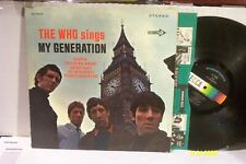 """THE WHO LP """"My Generation"""" ORIGINAL DECCA RECORDS STEREO  VG/VG+"""