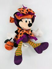 Disney Parks Minnie Mouse Halloween Trick or Treat Witch Plush Doll Stuffed Toy