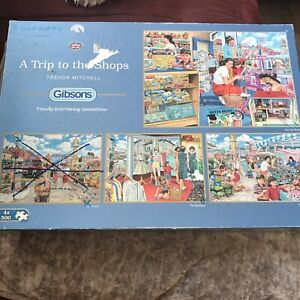 GIBSONS 'A Trip To The ships' - X4 500 Piece Jigsaw Puzzles