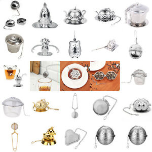 Stainless Steel Tea Infuser Sphere Loose Leaf Strainer Locking Spice Filter Ball