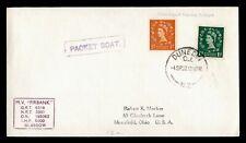 Dr Who 1957 Gb Paquebot Firbank Ship Dunedin New Zealand To Usa g09260