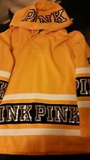 Victorias Secret yellow bling hoodie small