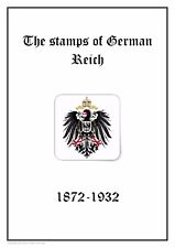 GERMANY Deutsches Reich  1872-1932 PDF(DIGITAL) STAMP ALBUM PAGES