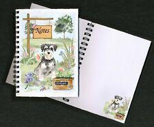 Miniature Schnauzer Dog Notebook/Notepad + small image on every page - Starprint