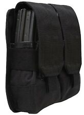 BLACK Tactical Military & Police M4/M16 Double Rifle Mag MOLLE Pouch 51003