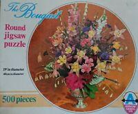 Vintage Arrow 500 PieceThe Bouquet Round Jigsaw Puzzle (No4322)