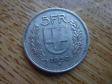 1950 SUISSE ARGENT 5 FRANC/FRANKEN Rare Coin