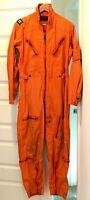 1960s Vietnam USAF Air Force K-28 Orange Flight Suit Coveralls Capt Rank Patches