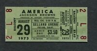 1973 America Jackson Browne Unused Full Concert Ticket Fresno Horse With No Name