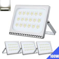 4X Projecteur LED 100W LED Lampe Eclairage blanc froid Spot Extérieur détecteur