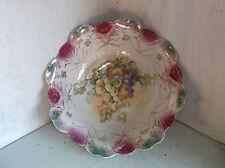 Vintage Grapes Pink & Green Serving Vegetable Bowl Unmarked