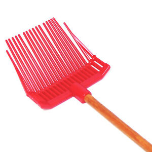 American Girl Label DOLL Horse Stable Supplies BARN RAKE MANURE BEDDING FORK Red