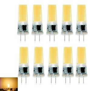10X G4 LED Bulb COB 8W AC 12V Warm White Capsule Lamp Dimmable Corn Bulb
