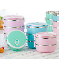 New 1-4 Tier Food Container Portable Thermal Insulated Sealed Bento Lunch Box