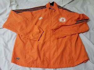ADIDAS 2007 BOSTON MARATHON CLIMA365 MEN JACKET VINTAGE SIZE USA XXL ORANGE