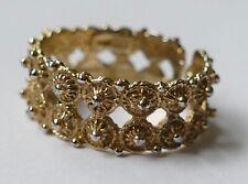 Ring filigrane Arbeit 925 Silber vergoldet Vintage 80er ring silver