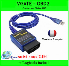 VGATE USB OBD OBD2 ODB2 OBDII DIAGNOSTIQUE SCANNER DIAG AUTO MULTIMARQUE ELM