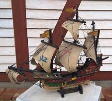 Großes Schiffsmodell *Santa Maria 1492* Holz, Segelschiff Piratenschiff  Alt