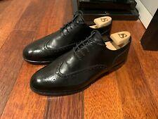Alfred Sargent Kensington Black Wingtip Brogue leather sole 8 F