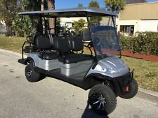 New listing  NEW SILVER 6 PASSENGER SEAT ADVANCED EV LIFTED LIMO GOLF CART FAST ALLOY RIMS