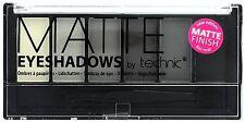 Technic Sombra de Ojos Paleta, tonos mate blanco, plata, Gris, Negro, Aplicador