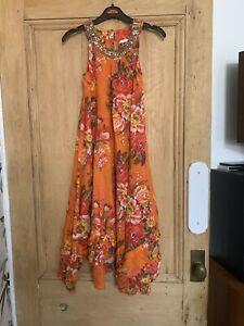 Girls Next Orange Floral Dress Age 8 Years