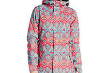 686 Women Paradise Snowboard Jacket (S) Grey Deco